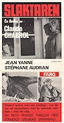 Le Boucher 1970 Movie poster Jean Yanne Claude Chabrol