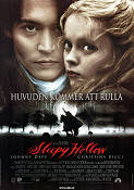 Sleepy Hollow 1999 Movie poster Johnny Depp Tim Burton