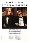 Crimes and Misdemeanors 1989 Movie poster Alan Alda Woody Allen