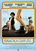 Snacka g�r ju 1981 Movie poster Carl-Gustaf Lindstedt