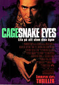Snake Eyes 1998 Movie poster Nicolas Cage Brian De Palma