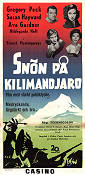 The Snows of Kilimanjaro 1953 poster Gregory Peck