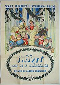 Snow White and the Seven Dwarfs 1938 poster Snövit