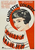 Three-Cornered Moon 1933 Movie poster Claudette Colbert