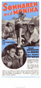 Summer with Monika 1953 Movie poster Harriet Andersson Ingmar Bergman