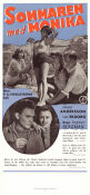 Summer with Monika 1953 poster Harriet Andersson Ingmar Bergman
