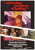 Sunday Bloody Sunday 1972 Movie poster Glenda Jackson John Schlesinger
