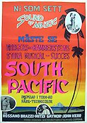 South Pacific 1958 poster Rossano Brazzi Joshua Logan