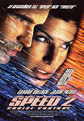 Speed 2 1997 Movie poster Sandra Bullock