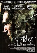 Spider 2002 Movie poster Ralph Fiennes David Cronenberg
