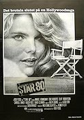 Star 80 1983 Movie poster Mariel Hemingway Bob Fosse