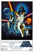Star Wars Style C 1977 poster Mark Hamill George Lucas