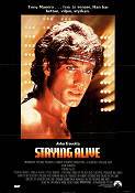 Staying Alive 1983 poster John Travolta Sylvester Stallone