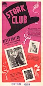 The Stork Club 1945 poster Betty Hutton