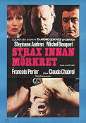 Juste avant la nuit 1971 Movie poster Stephane Audran Claude Chabrol