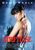 Striptease 1996 Movie poster Demi Moore