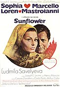 Sunflower 1970 Movie poster Sophia Loren Vittorio De Sica