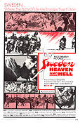 Sweden Heaven and Hell 1968 Movie poster Edmund Purdom Luigi Scattini