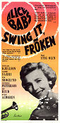 Swing it fr�ken 1956 Movie poster Alice Babs Stig Olin