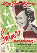 Swing it magistern 1940 Movie poster Alice Babs Schamyl Bauman