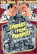 Syndare i filmparadiset 1956 Movie poster Stig Järrel
