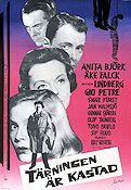 T�rningen �r kastad 1960 Movie poster Anita Bj�rk