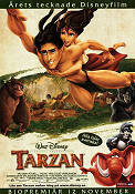 Tarzan Disney 1999 Movie poster Tarzan