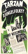 Tarzan Triumphs 1944 Movie poster Johnny Weissmuller