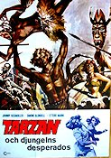 Tarzan och djungelns desperados 1974 Movie poster Johnny Kissmuller