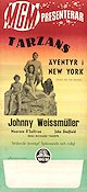 Tarzan´s New York Adventure 1942 poster Johnny Weissmuller Richard Thorpe