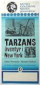 Tarzans äventyr i New York 1942 Movie poster Johnny Weissmuller