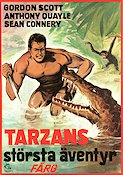 Tarzans st�rsta �ventyr 1972 Movie poster Gordon Scott