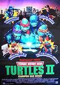 Teenage Mutant Hero Turtles 2 1991 poster Elias Koteas