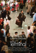 The Terminal 2004 Movie poster Tom Hanks Steven Spielberg