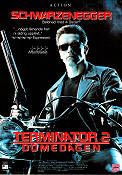 Terminator 2 VHS 1991 Movie poster Arnold Schwarzenegger James Cameron