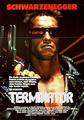 Terminator 1984 Movie poster Arnold Schwarzenegger James Cameron