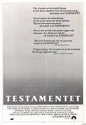 The Last Testament 1983 Movie poster Jane Alexander Lynne Littman