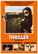 Thriller en grym film 1974 Movie poster Christina Lindberg Bo Arne Vibenius