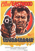Thunderbolt and Lightfoot 1974 Movie poster Clint Eastwood Michael Cimino
