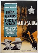 The Tin Star 1957 Movie poster Henry Fonda