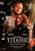 Titanic 3D 1997 Movie poster Leonardo di Caprio James Cameron