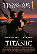 Titanic 1997 Movie poster Leonardo di Caprio James Cameron