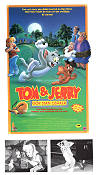 Tom och Jerry gör stan osäker 1988 poster Tom and Jerry