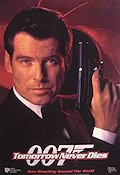 Tomorrow Never Dies 1997 Movie poster Pierce Brosnan