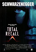 Total Recall 1990 Movie poster Arnold Schwarzenegger Paul Verhoeven