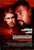 Training Day 2001 Movie poster Denzel Washington