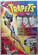 Trapeze 1956 Movie poster Burt Lancaster Carol Reed