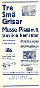Three Little Pigs 1934 Movie poster Musse Pigg