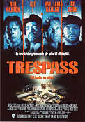 Trespass 1992 Movie poster Bill Paxton