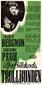 Spellbound 1945 Movie poster Ingrid Bergman Alfred Hitchcock